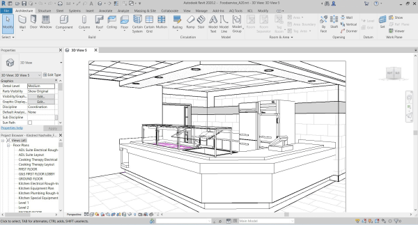 AutoDesk's Revit Building Information Modeling (BIM) computer-aided software